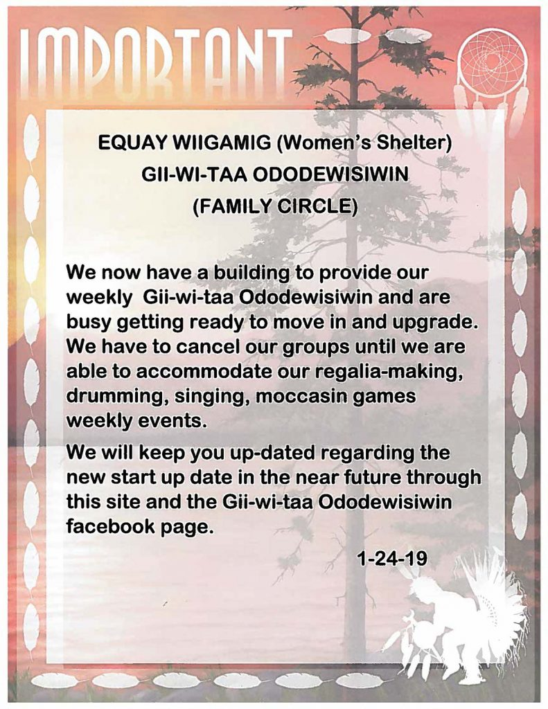 Gii Wi Taa Ododewisiwin - Family Circle