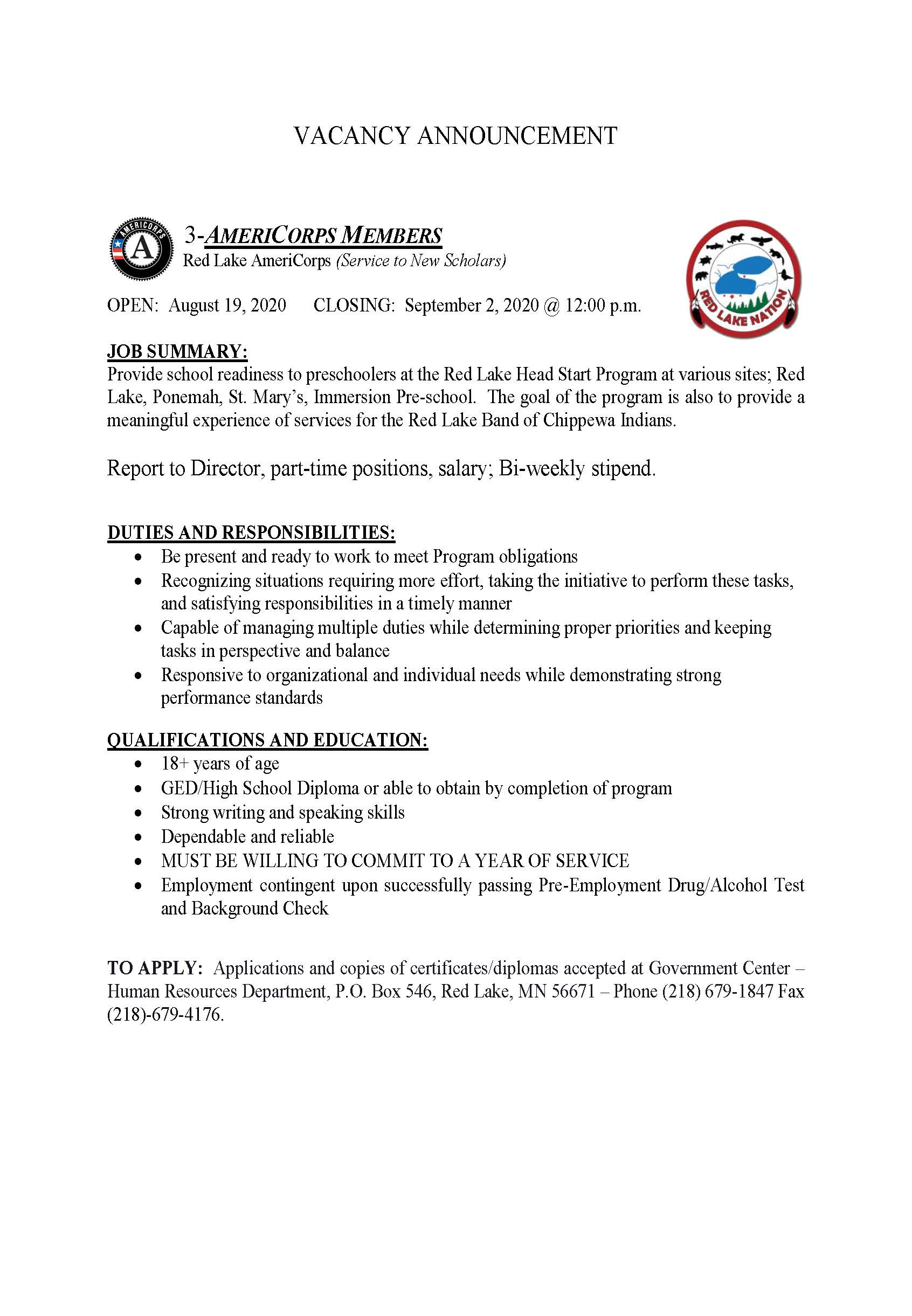 3- Members-AmeriCorps Scholars-Job posting-8-18-2020