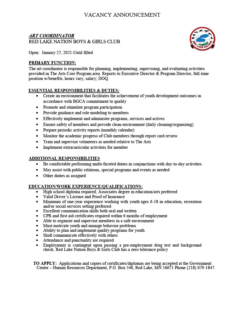 Art Coordinator-Boys Girls Club Job Announcement-1-27-20211024_1