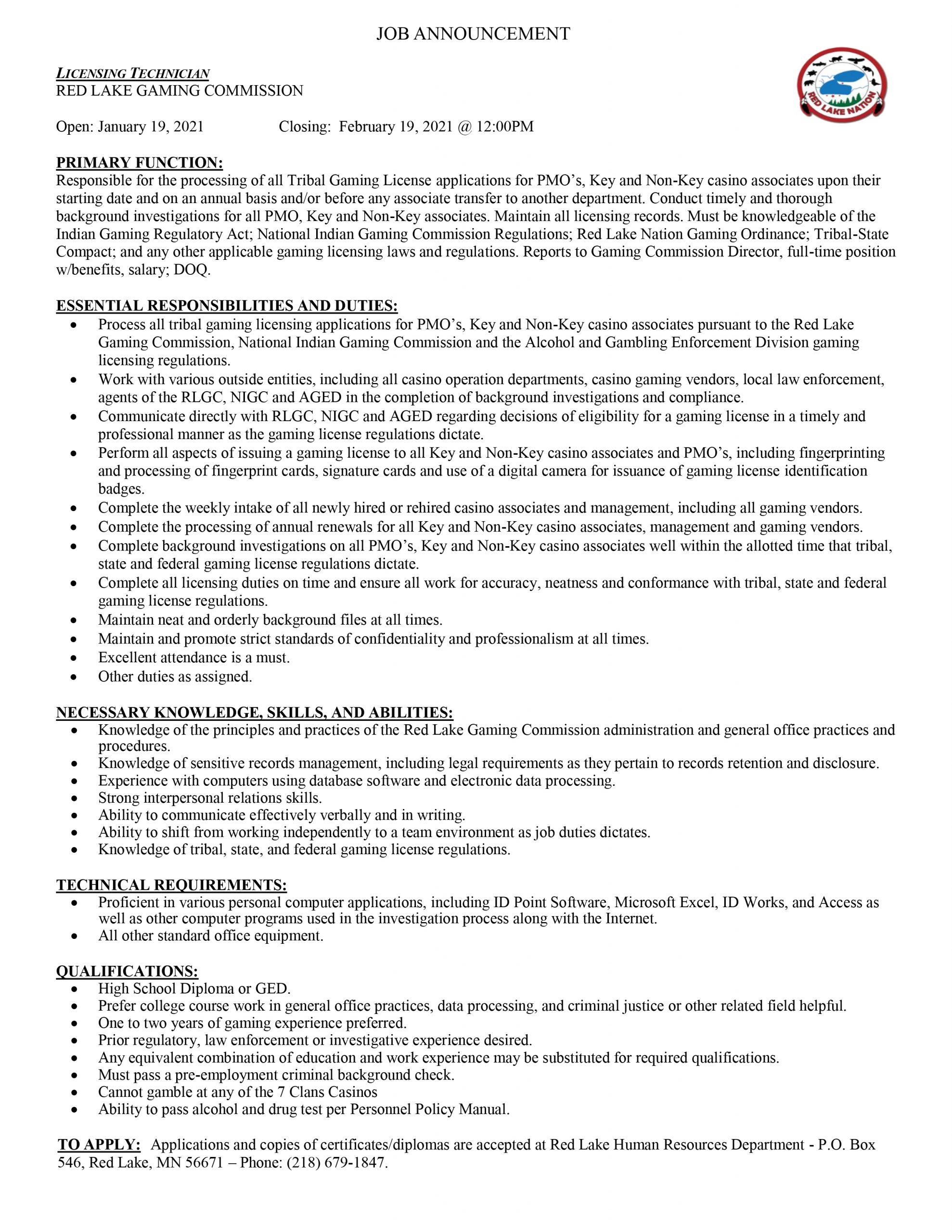 Licensing-Technician-Gaming-Commission-JA