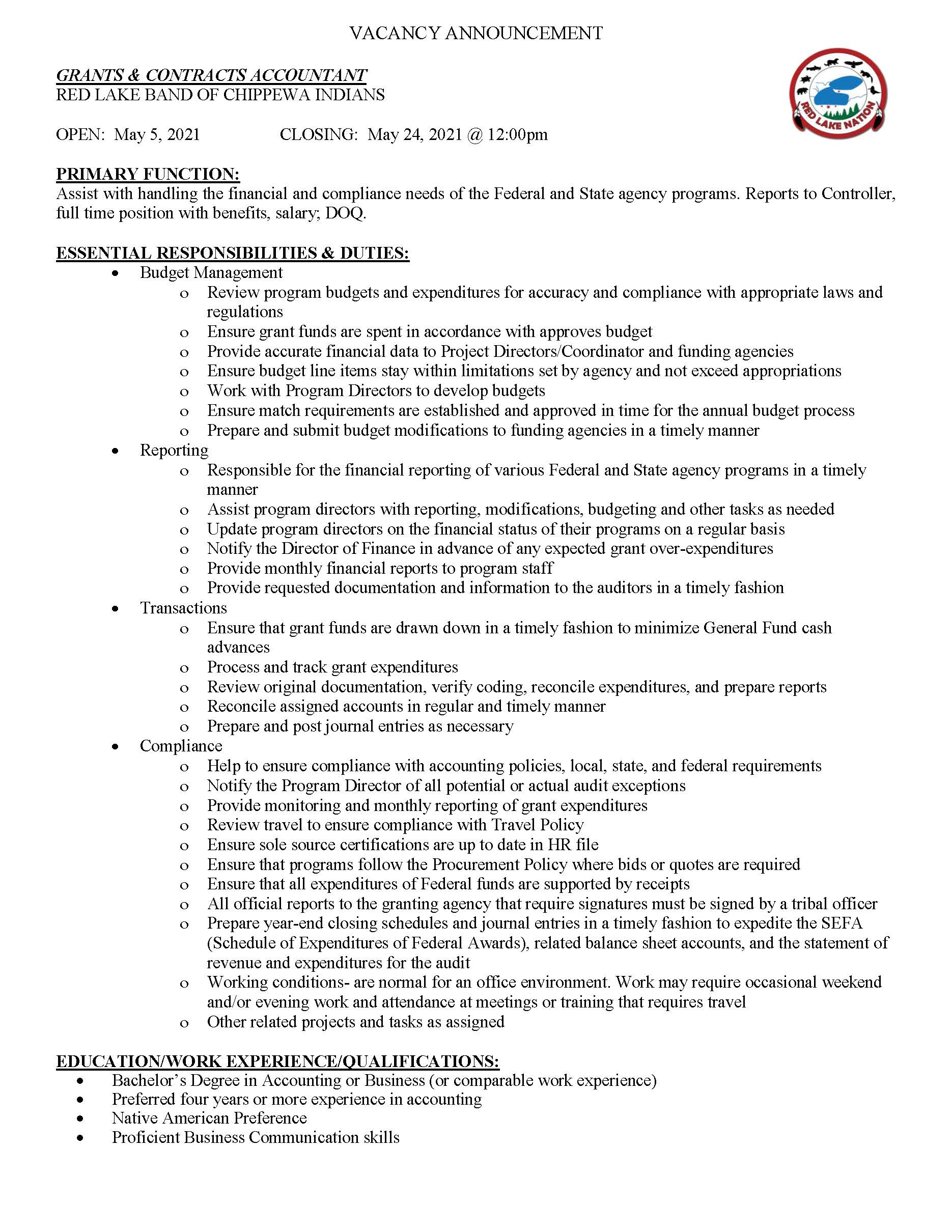 Grants Contracts Accountant Job Posting 5-4-2021_Page_1