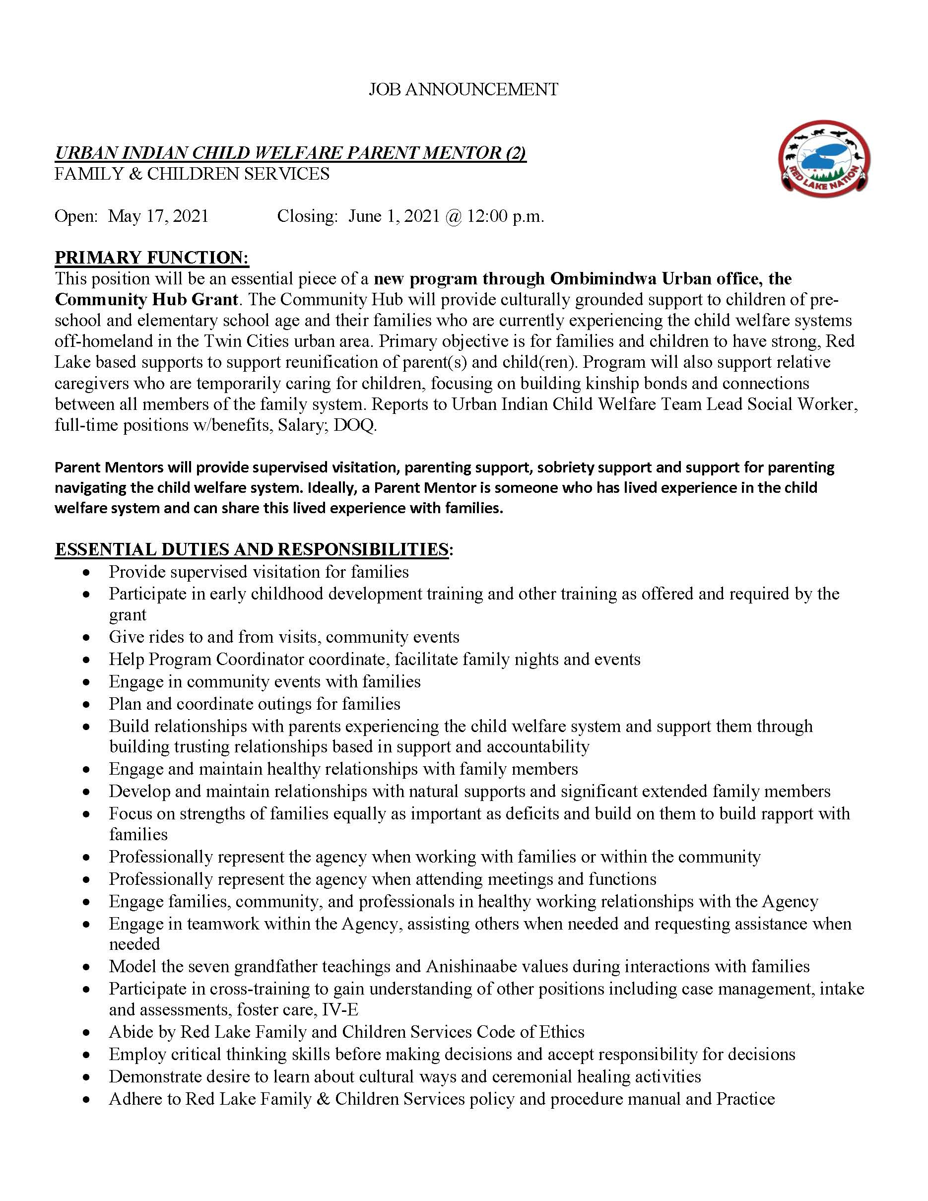 Urban Indian Child Welfare Parent Mentor 2-Family Children Services-Job Posting 5-20-2021_Page_1